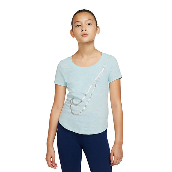 Nike Girls Crew Neck Short Sleeve Graphic T-Shirt - Big Kid