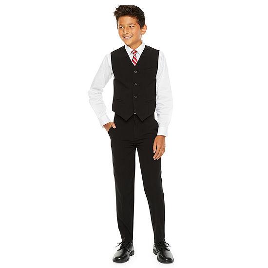 "Van Heusen Flex Long Sleeve Shirt + Tie Set"" 4-20 Boys, Regular & Husky"
