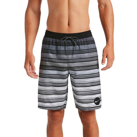 Nike Striped Swim Trunks