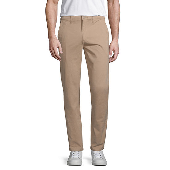 Arizona Mens Slim Fit Flat Front Pant