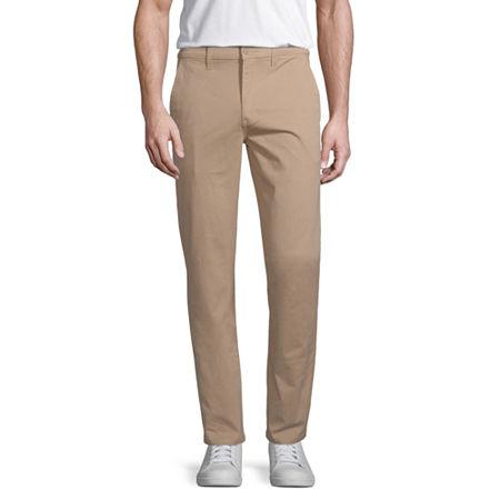 Arizona Flex Mens Slim Fit Pant, 38 32, Brown