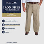 Haggar - Iron Free Premium Khaki Classic Fit Pleated Pant- Big & Tall