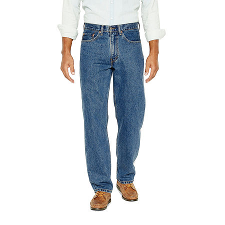 Men's Vintage Pants, Trousers, Jeans, Overalls Levis Water Less Mens 550 Relaxed Fit Jeans-Big  Tall 46 29 Blue $49.99 AT vintagedancer.com