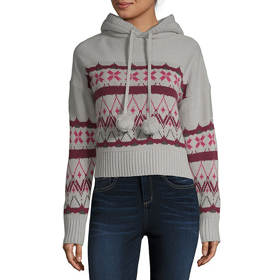 Derek Heart-Juniors Womens Long Sleeve Hoodie
