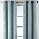 Regal Home Sterling Energy Saving Embroidered Blackout Grommet-Top Single Curtain Panel