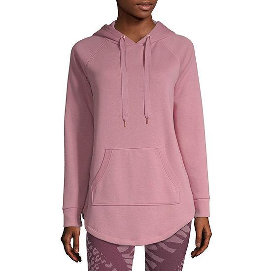 Xersion Womens Long Sleeve Fleece Hoodie-Petite