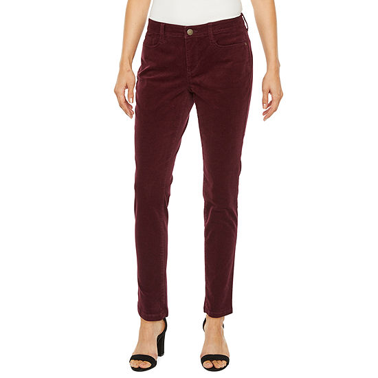 a.n.a Womens Mid Rise Slim Pant-Petite