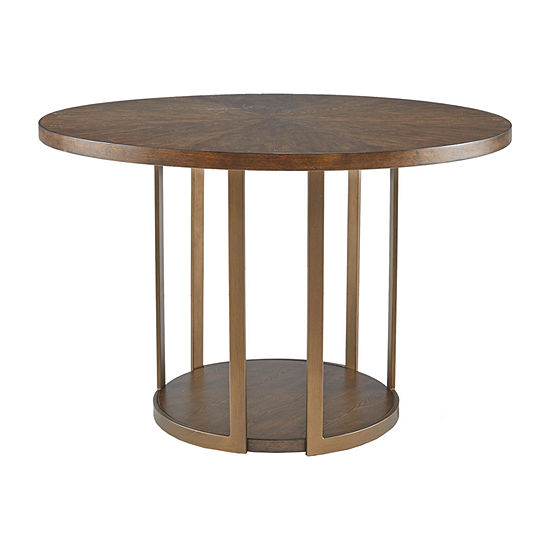 Madison Park Robertson Round Wood-Top Dining Table