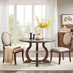 Madison Park Burton Round Wood-Top Dining Table