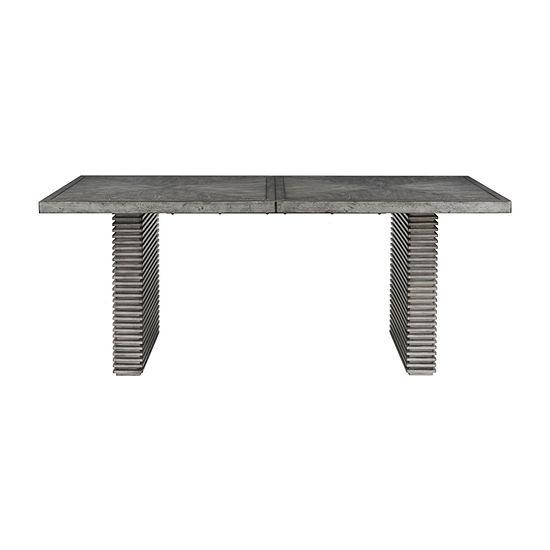 Madison Park Cain Rectangular Wood-Top Dining Table