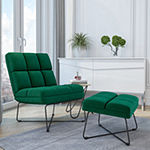Pama Armless Chair and Ottoman