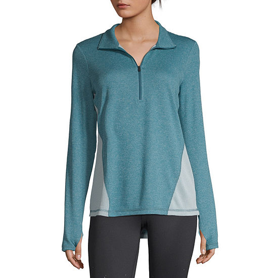 Xersion Womens Long Sleeve Quarter-Zip Pullover