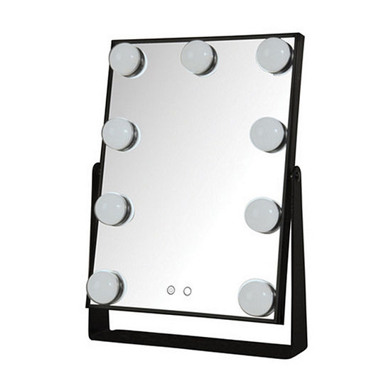 Jerdon JHW100B Hollywood Lights Mirror