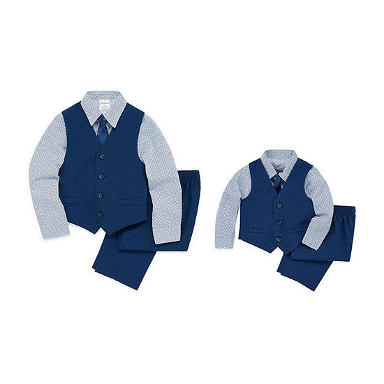 Brother & me Van Heusen 4-pc. Blue Polka Dot Suit Set