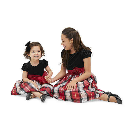 Sister & me Bonnie Jean Red Plaid Dress