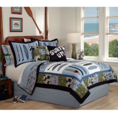 Catch A Wave Twin Quilt Set