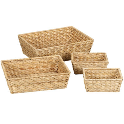 Household Essentials® Set of 4 Banana Leaf Baskets