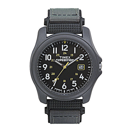 602ab5703b9 Timex® Expedition® Camper Mens Gray Nylon Strap Watch T425719J - JCPenney