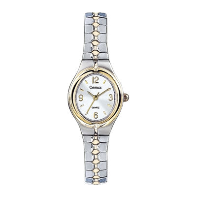 Carriage by Timex® Womens Two-Tone Stainless Steel Expansion Bracelet Watch C6A2419J