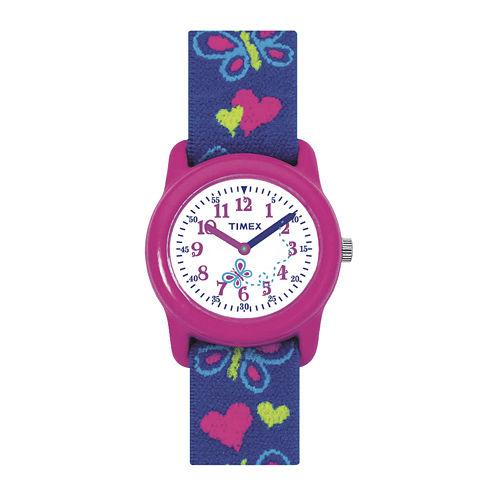 Timex® Easy Reader Kids Blue Fabric Strap Watch T890019J