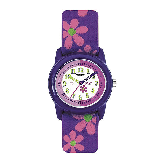 Timex® Easy Reader Kids Purple Fabric Strap Watch T890229J