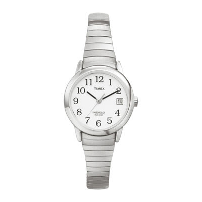 Timex® Easy Reader Womens Stainless Steel Expansion Bracelet Watch T2H3719J