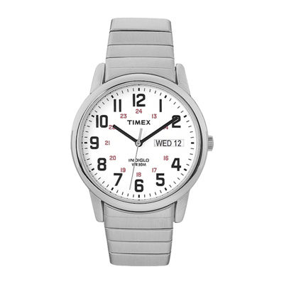 Timex® Easy Reader Mens Stainless Steel Expansion Strap Watch T2N0919J