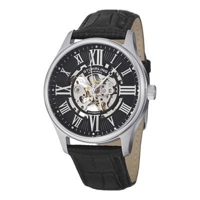 Stuhrling Mens Black Strap Watch-7329.02