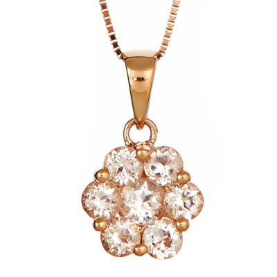 LIMITED QUANTITIES  Genuine Morganite Flower Pendant Necklace
