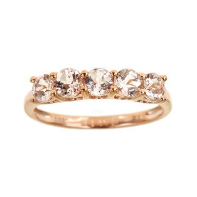 LIMITED QUANTITIES  Genuine Morganite 5-Stone Ring