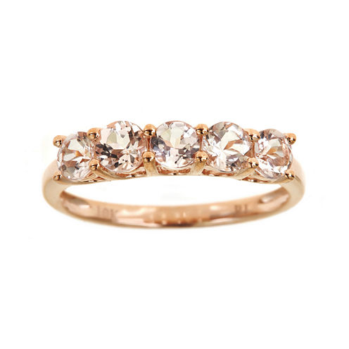 LIMITED QUANTITIES  Genuine Morganite 5-Stone Ring