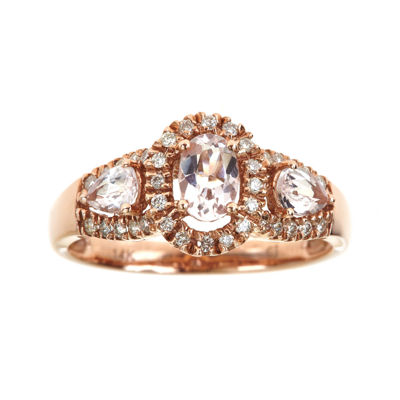 LIMITED QUANTITIES  Genuine Morganite and Diamond Ring
