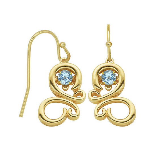 Genuine Sky Blue Topaz Butterfly Drop Earrings