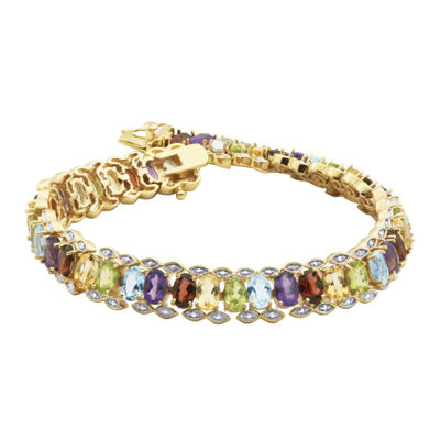 Multi-Gemstone and Diamond-Accent Tennis Bracelet