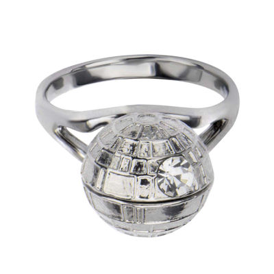Star Wars® Stainless Steel 3D Death Star Ring