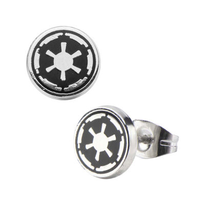 Star Wars® Stainless Steel and Enamel Galactic Empire Symbol Earrings