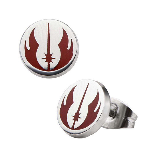 Star Wars® Stainless Steel and Enamel Jedi Order Stud Earrings