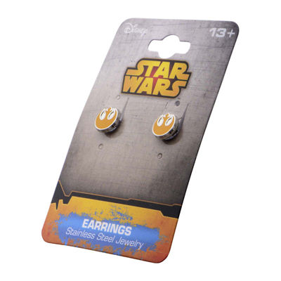 Star Wars® Stainless Steel and Enamel Rebel Alliance Stud Earrings