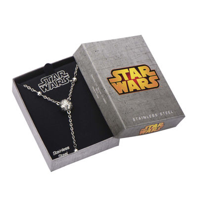 Star Wars® Stainless Steel 3D Death Star Necklace