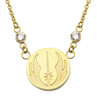 Star Wars® Stainless Steel Jedi Symbol Pendant Necklace