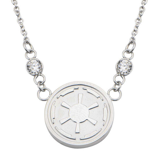 Star Wars Stainless Steel Imperial Symbol Pendant Necklace