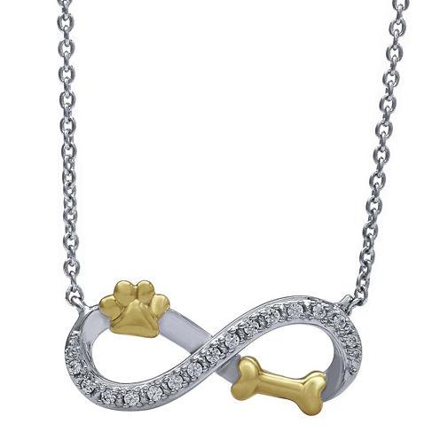 ASPCA® Tender Voices™ Diamond-Accent Paw and Bone Pendant Necklace