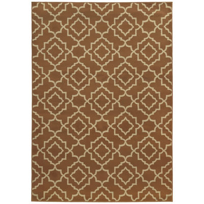 Covington Home Double Geo Rectangular Rug