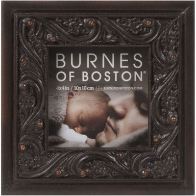 "Burnes of Boston® Ornate Jeweled 4x4"" Picture Frame"