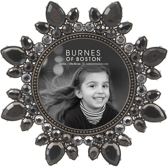 """Burnes of Boston® Smoked Jewels 4x4"""" Picture Frame"""