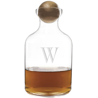 Cathy's Concepts Personalized Whiskey Decanter with Wood Stopper