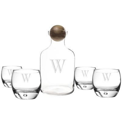 Cathy's Concepts Personalized Decanter and Set of 4 Whiskey Glasses