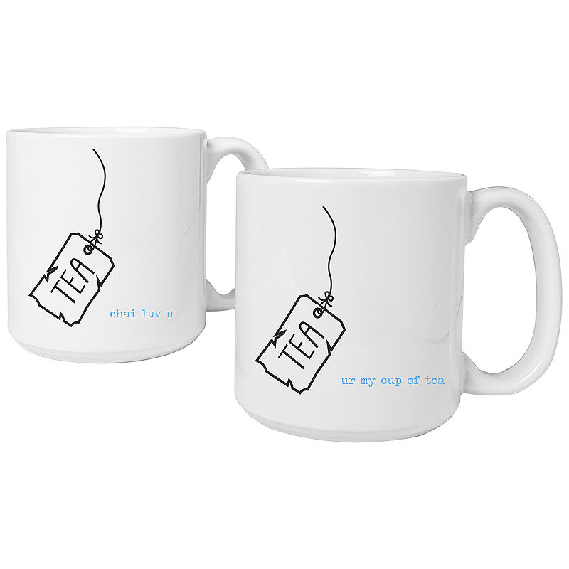 Cathy's Concepts Tea Time Set of 2 Personalized Large Coffee Mugs