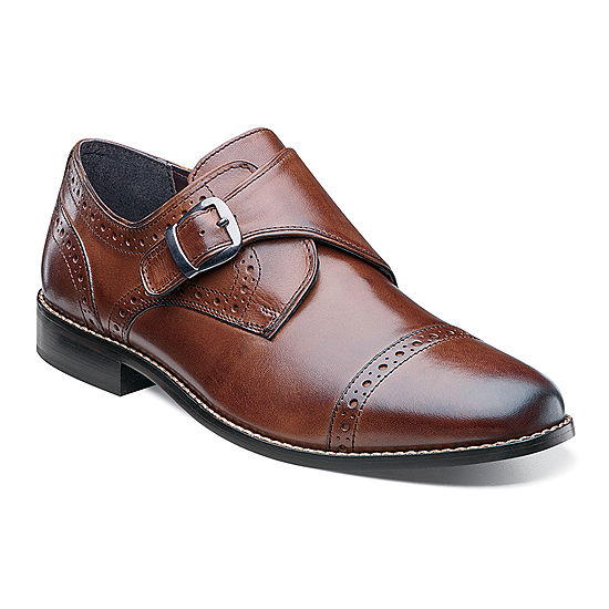 444ee9dc0f38 Nunn Bush® Newton Mens Monk-Strap Cap-Toe Leather Dress Shoes - JCPenney