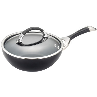 "Circulon® Symmetry 9½"" Hard-Anodized Nonstick Stir-Fry Pan with Lid"